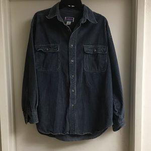 Men's NORTHCREST Blue Cordorouy Shirt Jacket